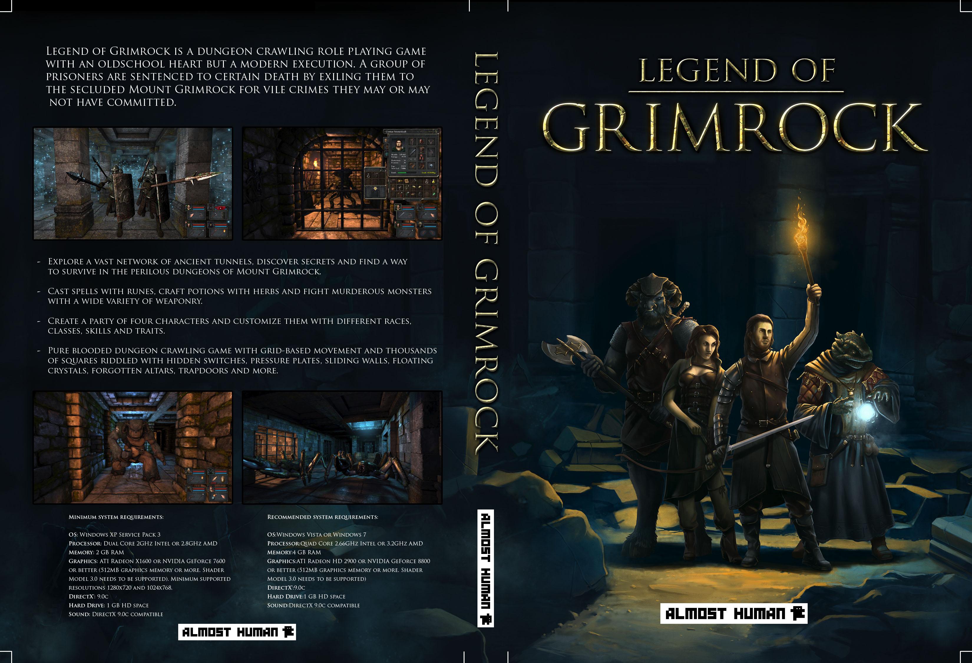 official legend of grimrock dvd insert grimrock